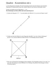 Parallelogramm, Raute, Rechteck, Quadrat: -
