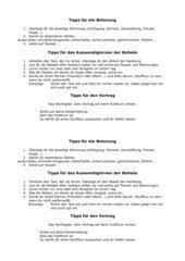 Tipps für das Auswendiglernen einer Ballade