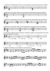 Akkorde bestimmen, bilden und in Liedern finden