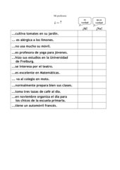 1. Spanischstunde