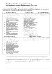 Bewertungsgrundlagen Spanisch