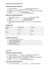 Revision Simple Past G21 A1 Unit 5