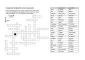 Steigerung der Adjektive Englisch Kreuzworträtsel