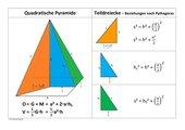 Quadratische Pyramide mit Schnittflächen