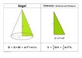 Kegel, Darstellung mit Formeln