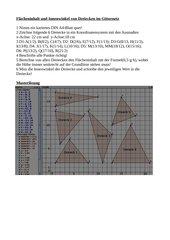 Flächeninhalt und Innenwinkel von Dreiecken im Koordinatensystem