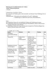 UR-Planung: Österreich und die Weltwirtschaftskrise / Inflation (webquest)