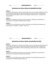 Klassenarbeit: Borchert - Die Küchenuhr