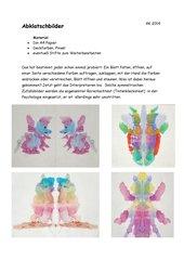 Abklatschbilder  -  Symmetrie