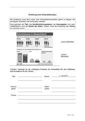 Schaubildanalyse - Arbeitsblätter zum Verfassen einer Schaubildanalyse