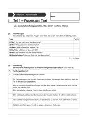 Klassenarbeit Inhaltsangabe zur Kurzgeschichte