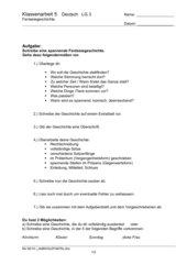 Klassenarbeit Fantasiegeschichte m. Bewertungsschema  Kl 4 ES