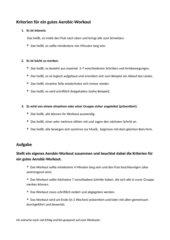 Kriterien für ein gutes Aerobic-Workout/ Grundschritte