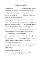 Lückentext zu Elisabeth v. Thüringen