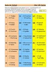 Welche Wörter sind Verben? Spiel für den 24er LÜK-Kasten