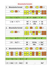 Binomische Formeln_Lösungshilfe
