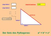 Pythagoras direkt – schneller als Taschenrechner - interaktiv