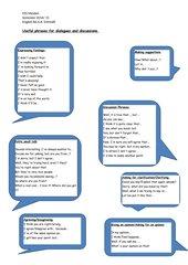 Diskussions- und Dialogwortschatz 8
