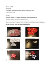 Blüten aus Stoff