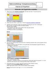 PowerPoint: Kalender mit Hyperlinks erstellen