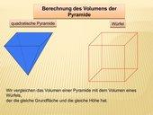 Volumenberechnung von Pyramide und Kegel