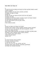 Reim-Wörter für Gedichte