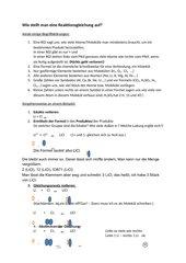 Wie erstelle ich eine Reaktionsgleichung?