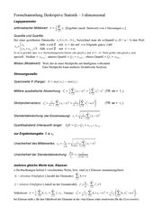 Formelsammlung zur deskriptiven Statistik (1- und 2-dim.)