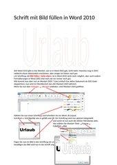 Wordart 2003 in Word 2010 anwenden