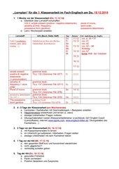 Lernen Lernen - Konkrete Vorbereitung auf Englisch-Klassenarbeiten
