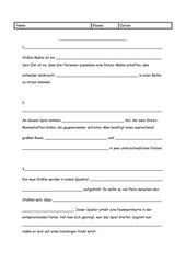 Spielanleitung Schreiben Beispiel