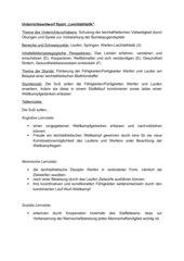 Leichathletik Unterrichtsentwurf