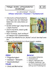 Textile Gestaltung: LUFTMASCHENKETTEN, FILZKUGEL, KORDELN