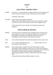 Der Osiris-Mythos - Theaterstück mit Augenzwinkern