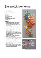 Blumen-Lichterkette für Muttertag