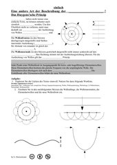 Das Huygens'sche Prinzip - Lückentext