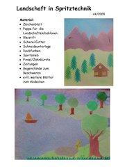 Landschaft in Spritztechnik