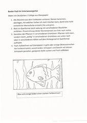 Bunter Fisch im Unterwassergarten