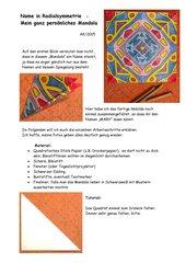 Name in Radialsymmetrie  -  Mein ganz persönliches Mandala