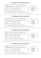 Übungen: Vier Grundrechenarten