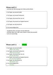 Englisch 5 New Highlight 1 Bayerm, Phraseswiederholung/übungen/abfragen