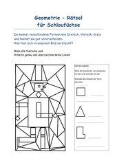 Geometrierätsel Vierecke