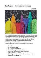Glasflaschen  -  Farbfolge im Farbkreis