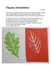 Filigrane Herbstblätter