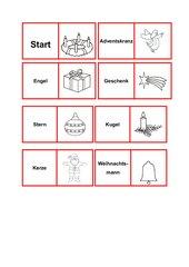 Domino Weihnachtswörter