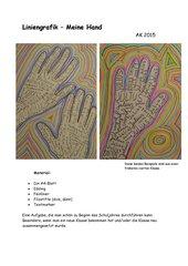 Liniengrafik  -  Meine Hand