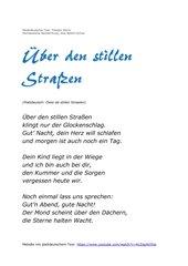 Niederdeutsche Lieder auf Hochdeutsch (Teil 1: Öwer de stillen Straaten / Über den stillen Straßen)