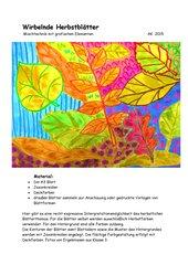 Wirbelnde Herbstblätter  -  Mischtechnik