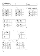 Klassenarbeit Mathe Über den Zehner