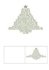 Weihnachtskarte mit internationalen Weihnachtsgrüßen